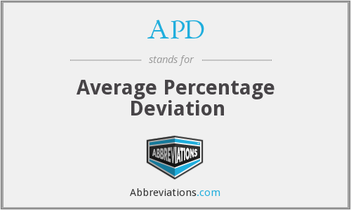 APD - average percentage deviation