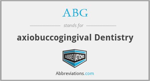 ABG - axiobuccogingival Dentistry