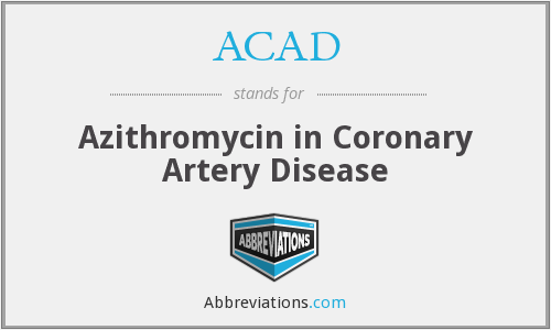 ACAD - Azithromycin in Coronary Artery Disease