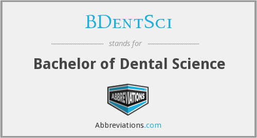 What does BDENTSCI stand for?