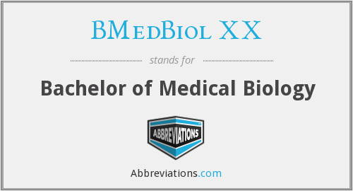 What does BMEDBIOL XX stand for?