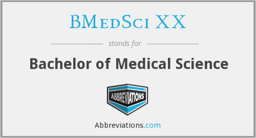 What does BMEDSCI XX stand for?