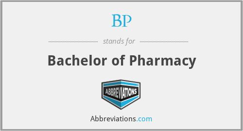 BP - Bachelor of Pharmacy