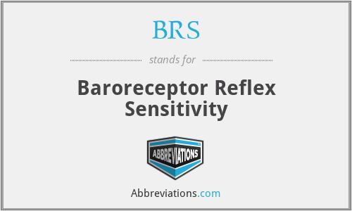 BRS - baroreceptor reflex sensitivity