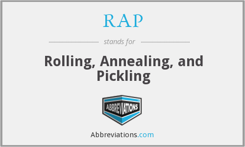 RAP - Rolling, Annealing, and Pickling