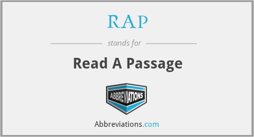 RAP - Read A Passage