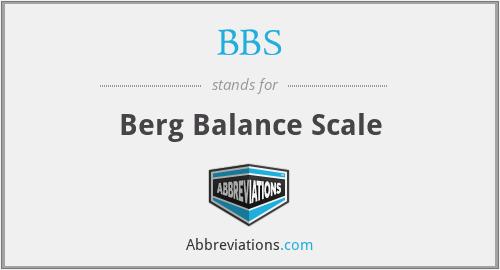 BBS - Berg Balance Scale
