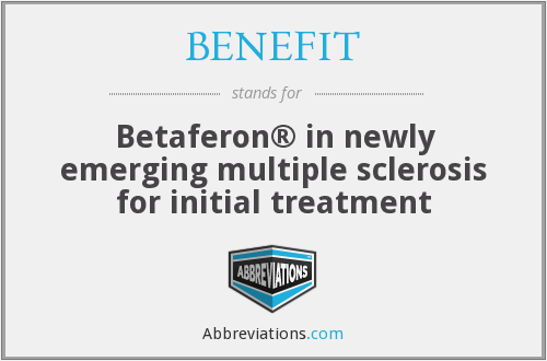 What does BENEFIT stand for?