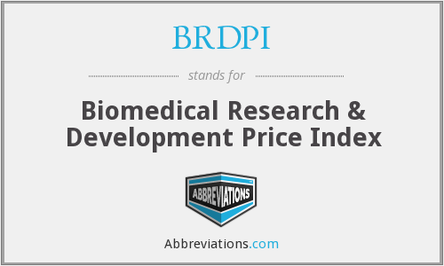 BRDPI - Biomedical Research & Development Price Index