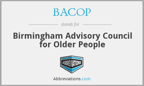 BACOP - Birmingham Advisory Council for Older People