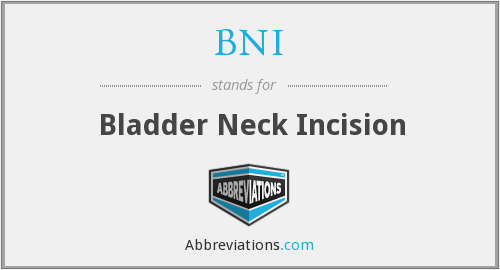 BNI - Bladder Neck Incision