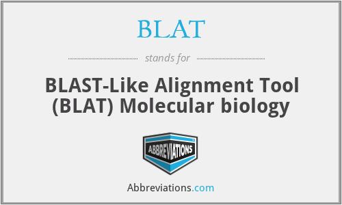 BLAT - BLAST-Like Alignment Tool (BLAT) Molecular biology