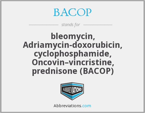 What does BACOP stand for?