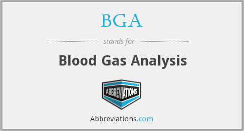 BGA - blood gas analysis