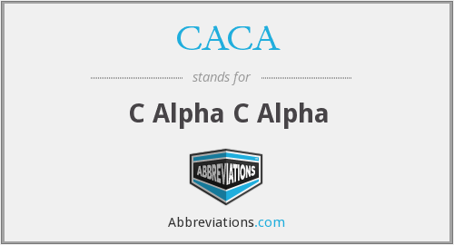 What does CACA stand for?