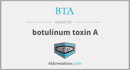 BTA - botulinum toxin A