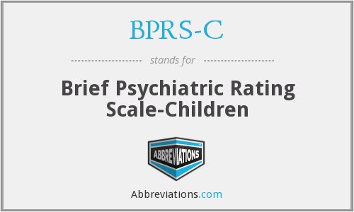 What does BPRS-C stand for?