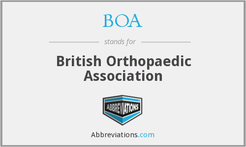 BOA - British Orthopaedic Association