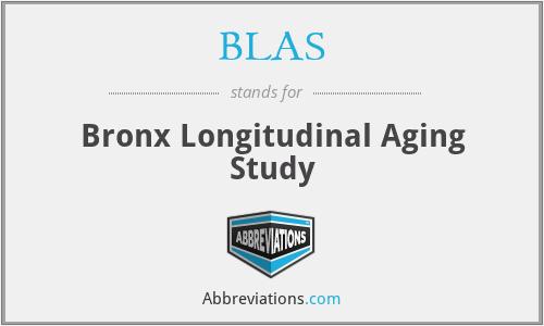 BLAS - Bronx Longitudinal Aging Study