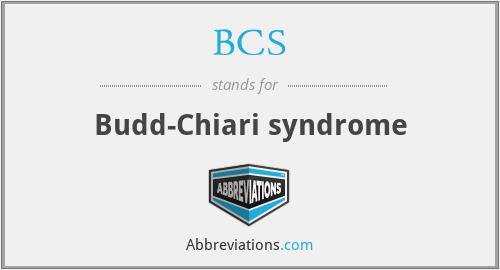 BCS - Budd-Chiari syndrome