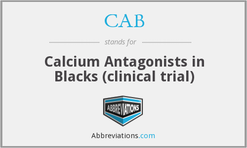 CAB - Calcium Antagonists in Blacks (clinical trial)