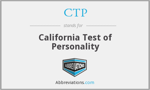 CTP - California Test of Personality