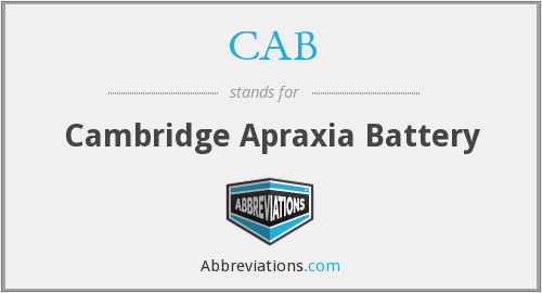 CAB - Cambridge Apraxia Battery
