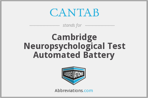 What does CANTAB stand for?