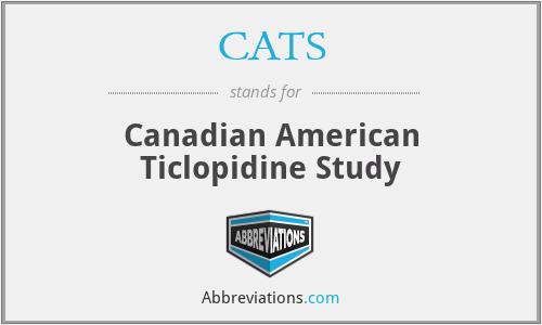 CATS - Canadian American Ticlopidine Study
