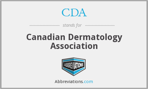 CDA - Canadian Dermatology Association