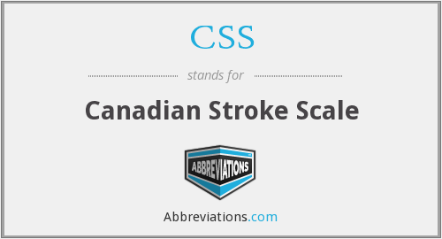 CSS - Canadian Stroke Scale