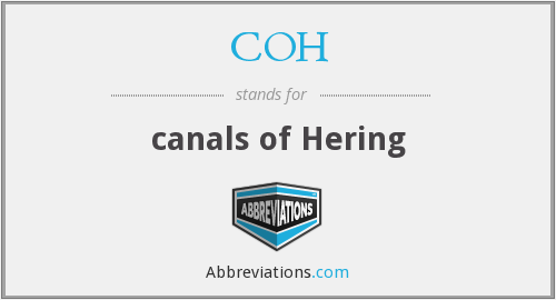 COH - canals of Hering