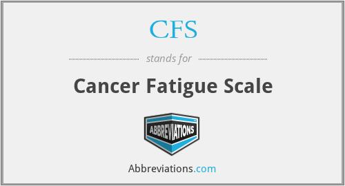 CFS - Cancer Fatigue Scale