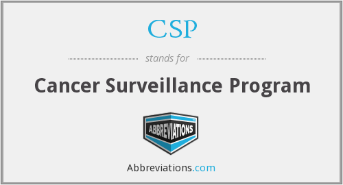 CSP - Cancer Surveillance Program