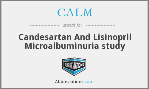 CALM - Candesartan And Lisinopril Microalbuminuria study