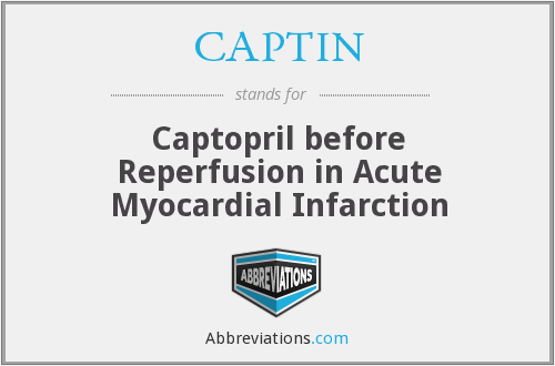 CAPTIN - Captopril before Reperfusion in Acute Myocardial Infarction