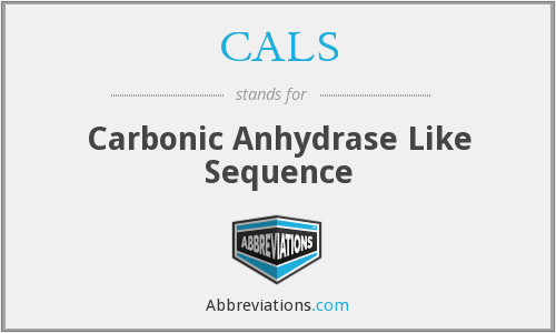 CALS - carbonic anhydrase like sequence