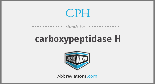 CPH - carboxypeptidase H