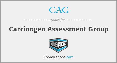 CAG - Carcinogen Assessment Group