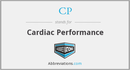 CP - cardiac performance