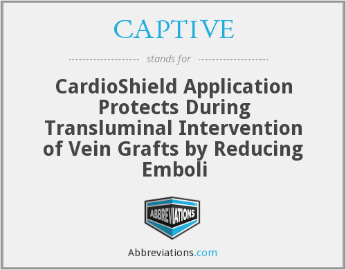 CAPTIVE - CardioShield Application Protects During Transluminal Intervention of Vein Grafts by Reducing Emboli