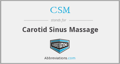 CSM - carotid sinus massage