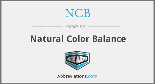 NCB - Natural Color Balance