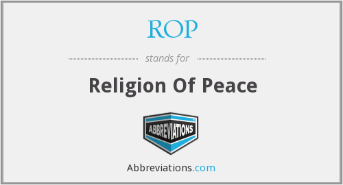 ROP - Religion Of Peace
