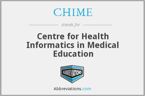 CHIME - Centre for Health Informatics in Medical Education