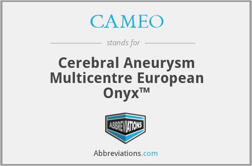 CAMEO - Cerebral Aneurysm Multicentre European Onyx™