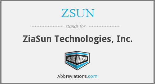 What does ZSUN stand for?