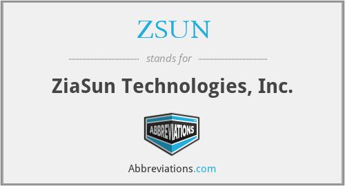 ZSUN - ZiaSun Technologies, Inc.