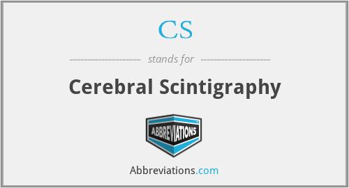CS - Cerebral Scintigraphy