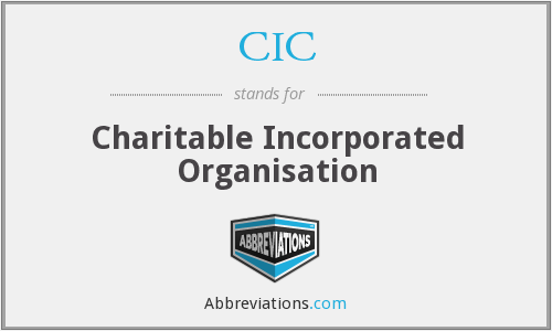 CIC - Charitable Incorporated Organisation